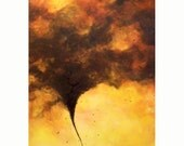Tornado Twister and Birds Art Print