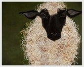 Abstract sheep , on cover of The Yearning Feed book , Animal Wall Art