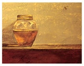 Still Life, Bee and Honey Art Painting Print - 8 x 10 - Gift Giving Size