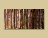 Abstract LP Records Painting...12 x 24...Colorful Custom Retro Wall Art