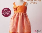 Fancy Party Dress - perfect flower girl dress - gathered top - easy sew - 12 months to 6 years - PDF Tutorial