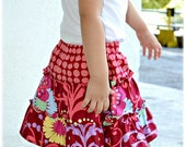 Petite Kids Boutique Lucy Skirt - 2 to 10 years PDF Pattern and Instructions -Safety shorts attached- Tiered twirly skirt