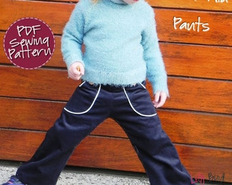 Lily Bird Studio PDF Sewing Pattern - Ben & Mia Pants with Pockets for Boy and Girl - 12 months to 6 years