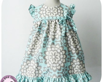 Birthday party dress PDF sewing pattern for intermediate sewers - 12 mths to 8 yrs
