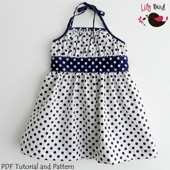 Katrina Dress - PDF Pattern and Instructions - 12M to 8T