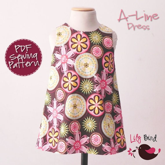 A-Line Dress - 12M to 8Y - PDF Pattern and Instructions