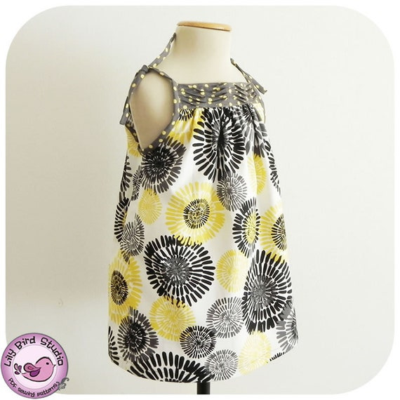 Pleated sundress - 9 months to 8 years - PDF Pattern and Tutorial - pilowcase dress - easy sew