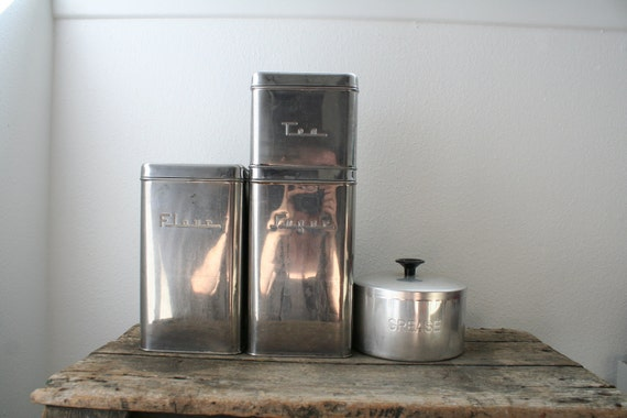 1940s Kitchen Canister set