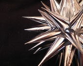 Shiny Silver SunStar Polish Star Ornament-Extra Large 7.5 inch