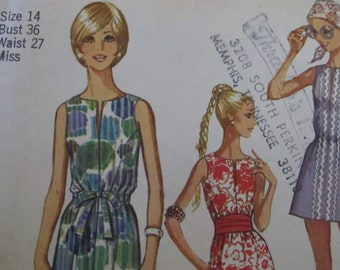 Simplicity Dress Pattern from the Seventies but Current Style of Today