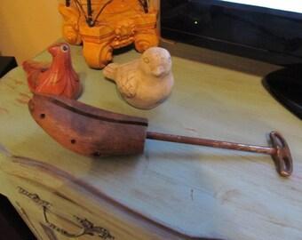 Vintage Collectible, Wooden Shoe Stretcher, Home Decor Item,