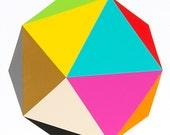 "Original painting - Decagon 30"" x 30"" geometric minimalist abstract"