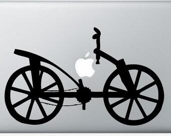 Da Vinci Bike invention laptop DECAL- macbook iPad computer- vinyl sticker- bicycle