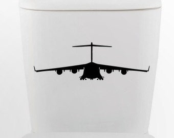 Hercules bomber DECAL- millitary jet Home Decor, toilet, Vinyl Wall Art, Shower, Bathroom, Interior Design