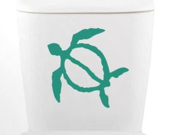 HONU turtle Petroglyph DECAL-toilet, Home Decor, Vinyl Wall Art, Shower, Bathroom, Interior Design