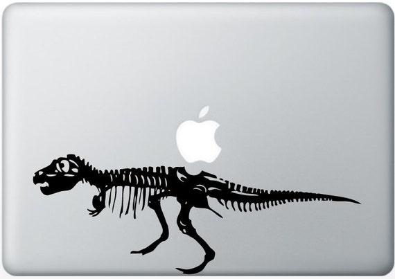 T-Rex Dinosaur laptop DECAL- macbook iPad computer- vinyl sticker