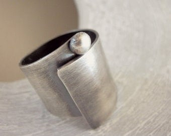 Wide band ring swirl, Wide Band sterling silver ring, Sterling silver ring, Silver ring, Wide Band