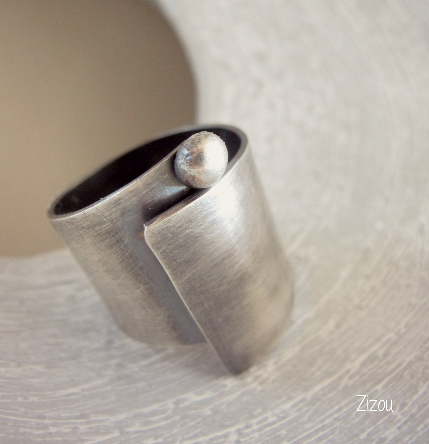 Wide Band Ring Swirl Wide Band Sterling Silver Ring Sterling