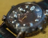Vintage Handcraft Wrist Watch with Handstitch Leather Strap /// Dragon Ash - Perfect Gift for Birthday, Anniversary