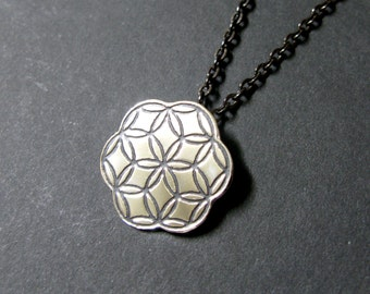 Niko pendant, asian arts pendant, japanese textile