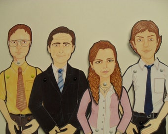 Dwight, Michael, Pam and Jim, The Office
