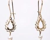 BLACK FRIDAY - Laced drops earrings , BRIDAL earrings, 30% off