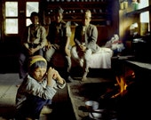 Warming Up At Mingma's House, Nepal, Ultrachrome K3 Archival Print