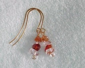 Rock Candy Earrings Semi Precious Quartz Mix Metaphysical