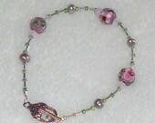 Annalil's  Dew Drops Bracelet Cloisonne Freshwater Pearls