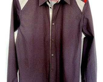 Fitted Cotton Men's Shirt Darkgrey