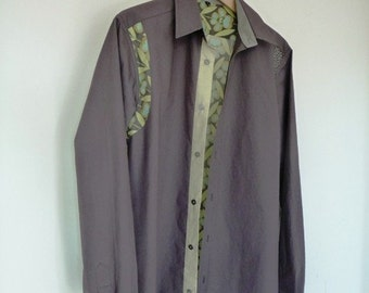 Darkgrey Cotton Men's Shirt