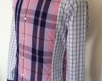 Fitted Cotton Men's Shirt in Checked Fabric ( Medium )