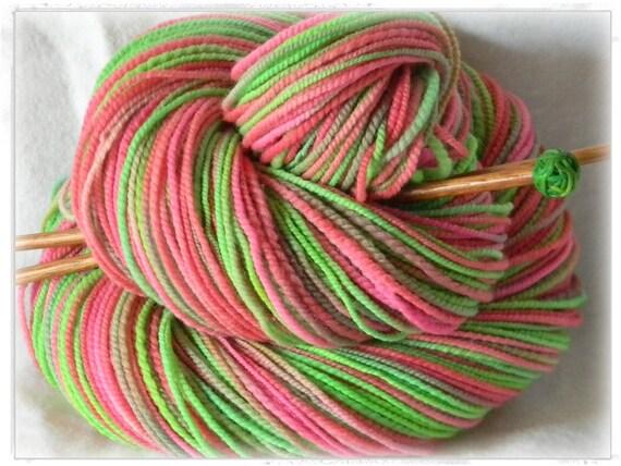 Princess  - Handspun Hand painted Soft Merino Wool Yarn