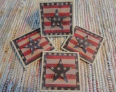 Stars and Stripes Mini Cards  Set of 4