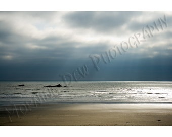 Kalaloch Sunset - Matted photograph of Kalaloch Beach in Olympic National Park