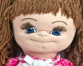 Organic Doll, Eco Friendly, Vegan, Soft Sculpture, Cloth Dolls, Comfort Kids Dainty Dolly oefdd1