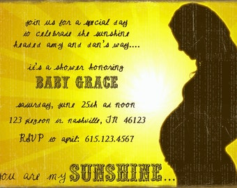 You Are My Sunshine baby shower invite (print-your-own)
