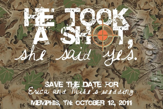 Camo/Hunting Save the Date (Print Your Own)