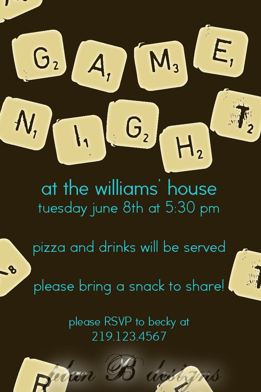 Board Game Night Clip Art Game night invitation