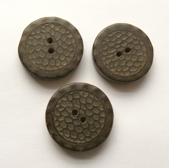 Vintage wood buttons