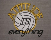 Scrapbooking Diecut Volleyball ATTITUDE is Everything