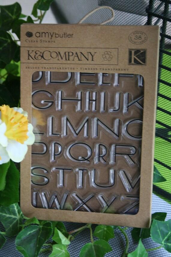 Clear Stamp Set - Alphabet