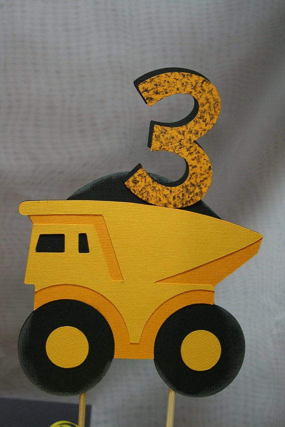 dump truck wedding cake toppers items similar to birthday cake topper personalized 13783