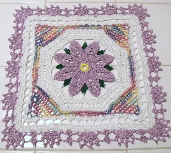 Reserved Listing For Caryn......Crochet Floral Doily Square