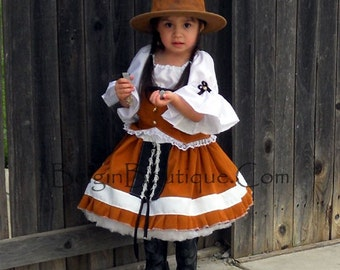 Pageant Casual Wear cowgirl Western Rodeo Wild West Halloween Custom size 3/6m 9m 12m 18m 2T 3T 4 5 6 7 10