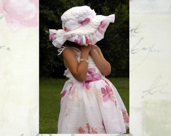 Pageant OOC Easter Spring Chenille Dress Casual wear Natural wear easter wear custom 3/6m up to 10 yrs