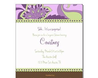Printable Invitation - baby shower, birthday, wedding shower