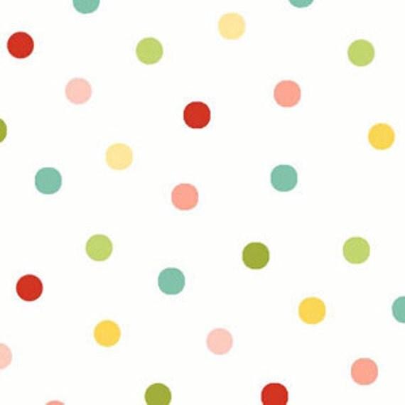 Oh-La-La by Dana Brooks of Lazy Daisy Cottage for Henry Glass-Polka dots-1 yard-CUTE