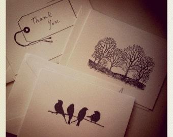 Bird, Tree & Tag Stationery