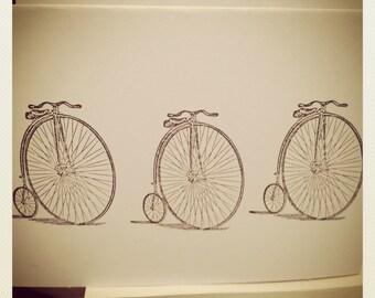 Bicycle Stationary Set // Handmade // Vintage Style Bike // Stationery